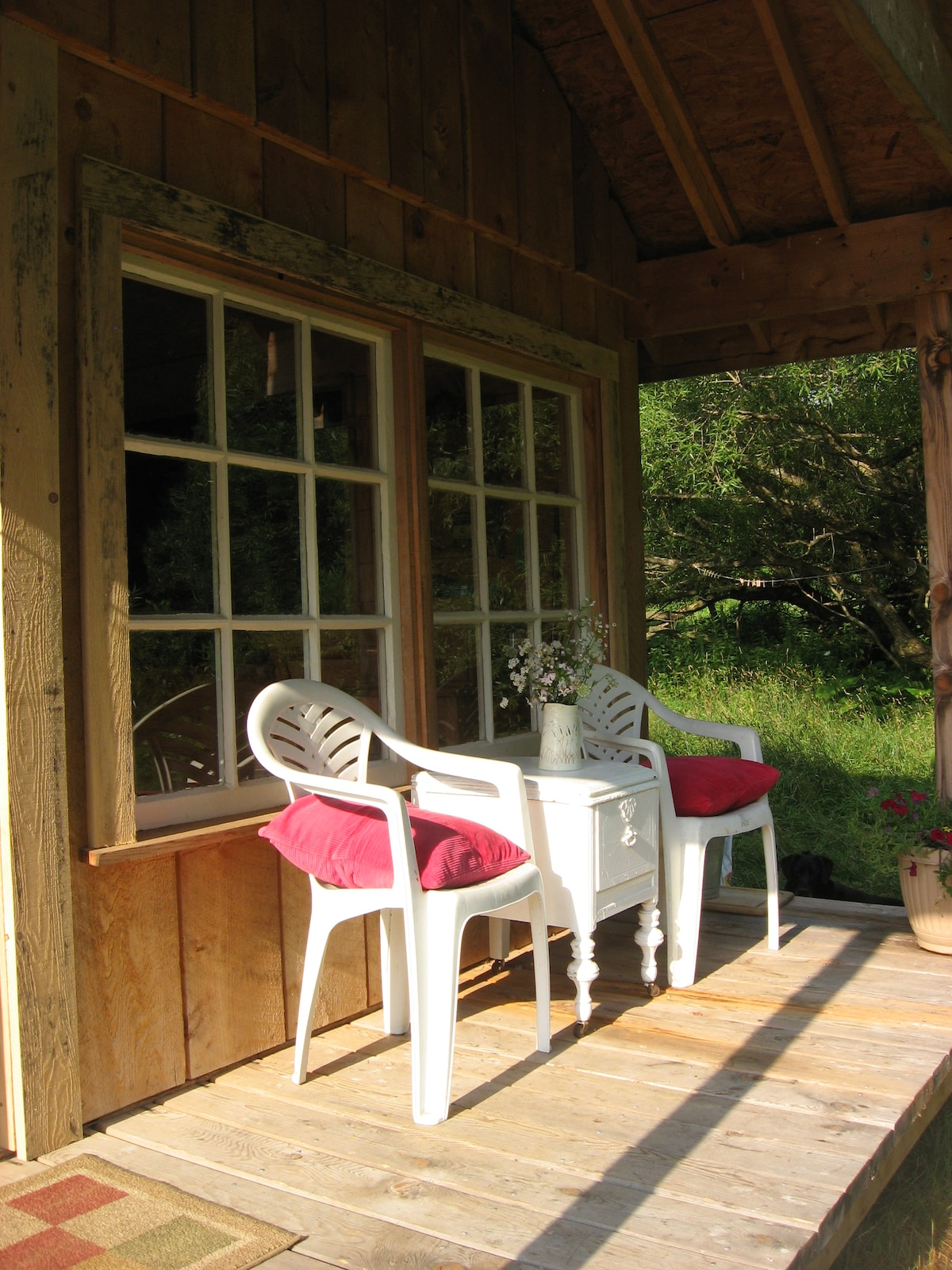 Porch of FarmHand Cabin