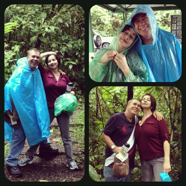 This lovely couple will host you. These pictures were taken while hiking in the rain forest.