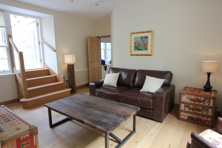 Livingroom with access to the private roof terrace