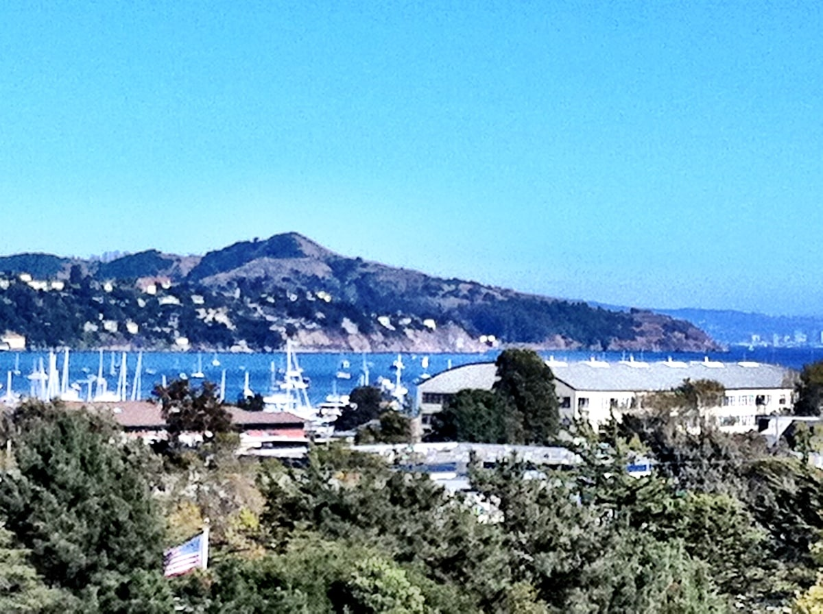 View of Sausalito Harbor from all 3 levels of my home.