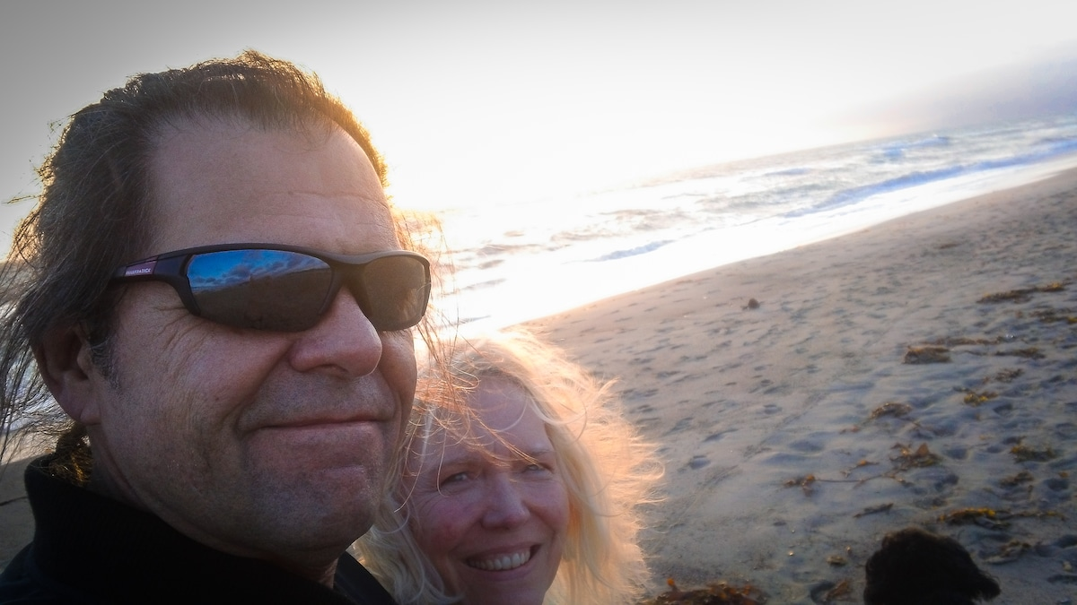 Steve and Mary at the local beach