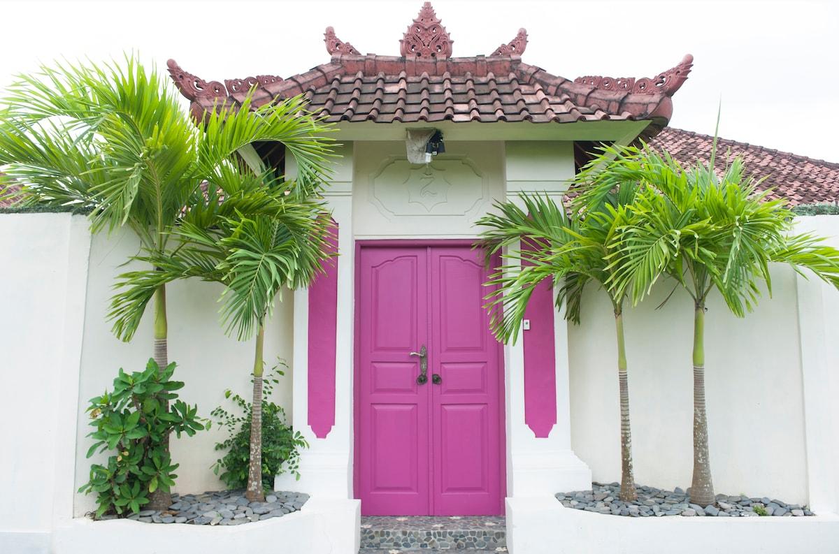 Typical Balinese door