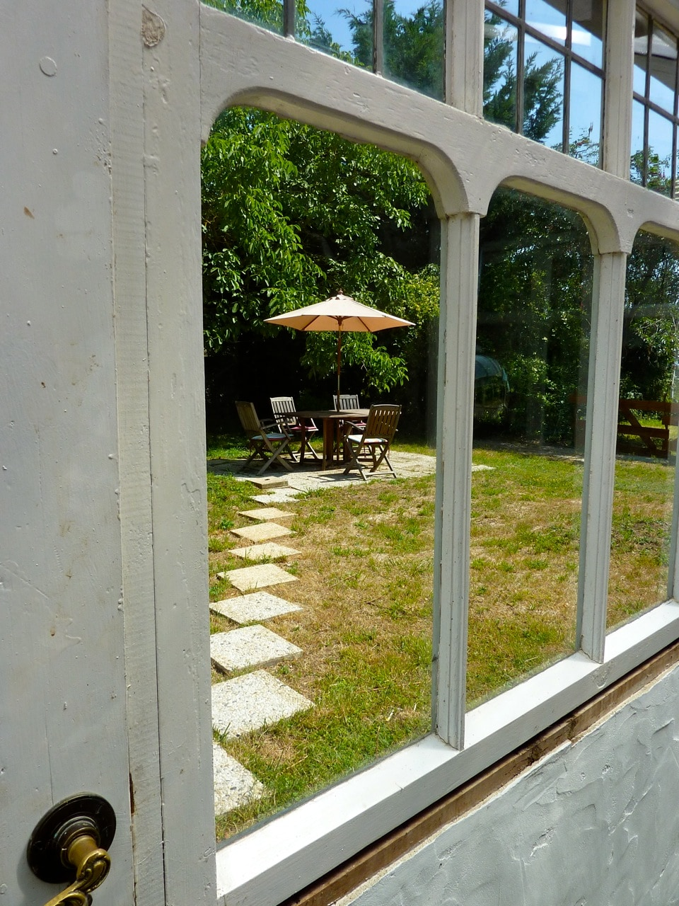 View of the Garden through the conservatory
