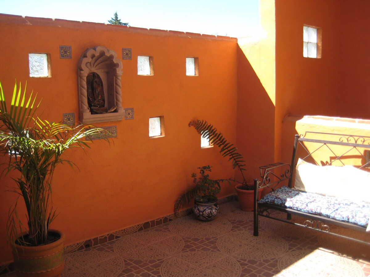 The private terrace - cozy up with a book in the sun!