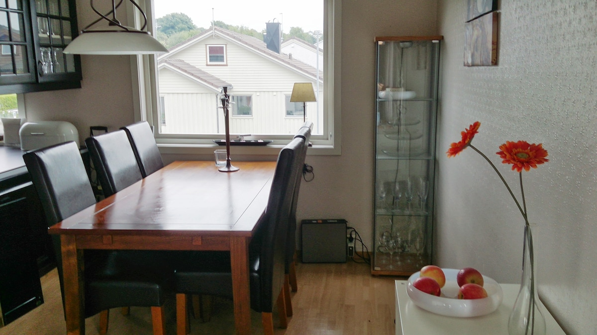 Bright dining room at your disposal