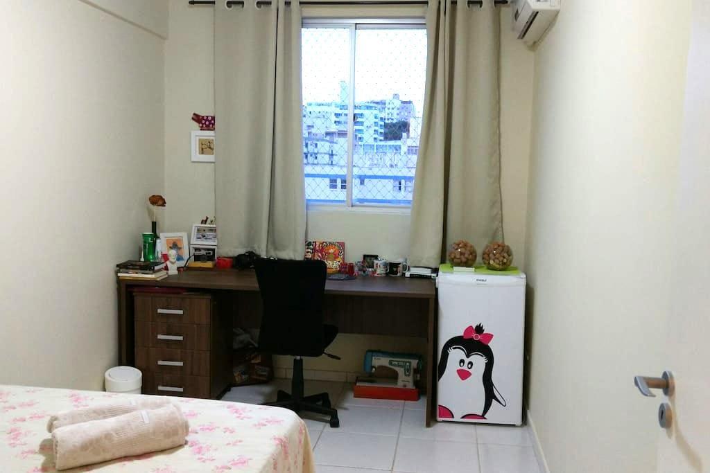 Quarto - cama de casal, ar-condicionado e frigobar - Florianópolis - Appartement