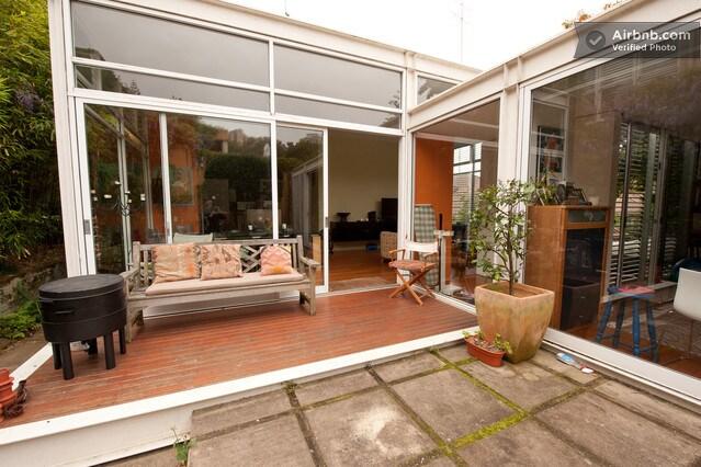 private sunny garden courtyard