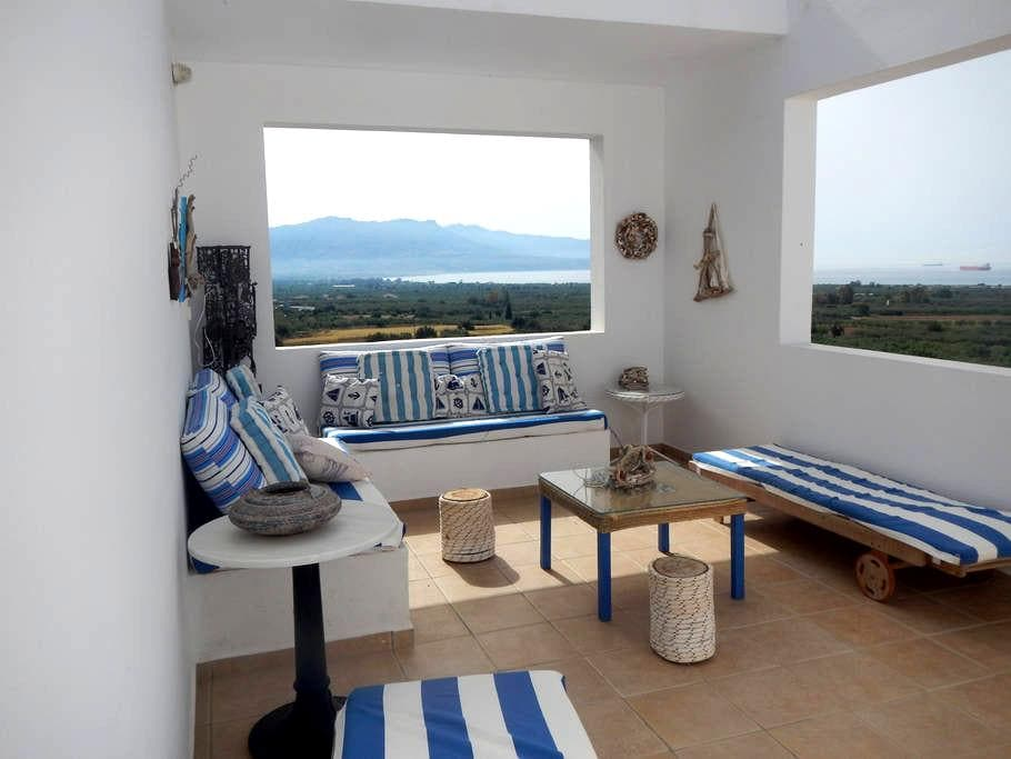 2bedrooms with amazing view close to the beach - Megali Spilia