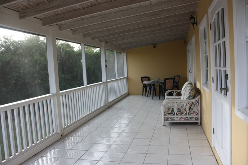 The wide, seaward facing, screened, verandah is ideal for entertaining, breakfast, watching sunsets, dining by candlelight or having a nightcap while safely listening to the sounds of the night insects!