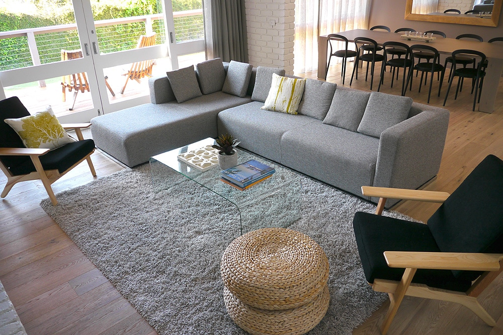 Comfortable modern furniture and open plan living
