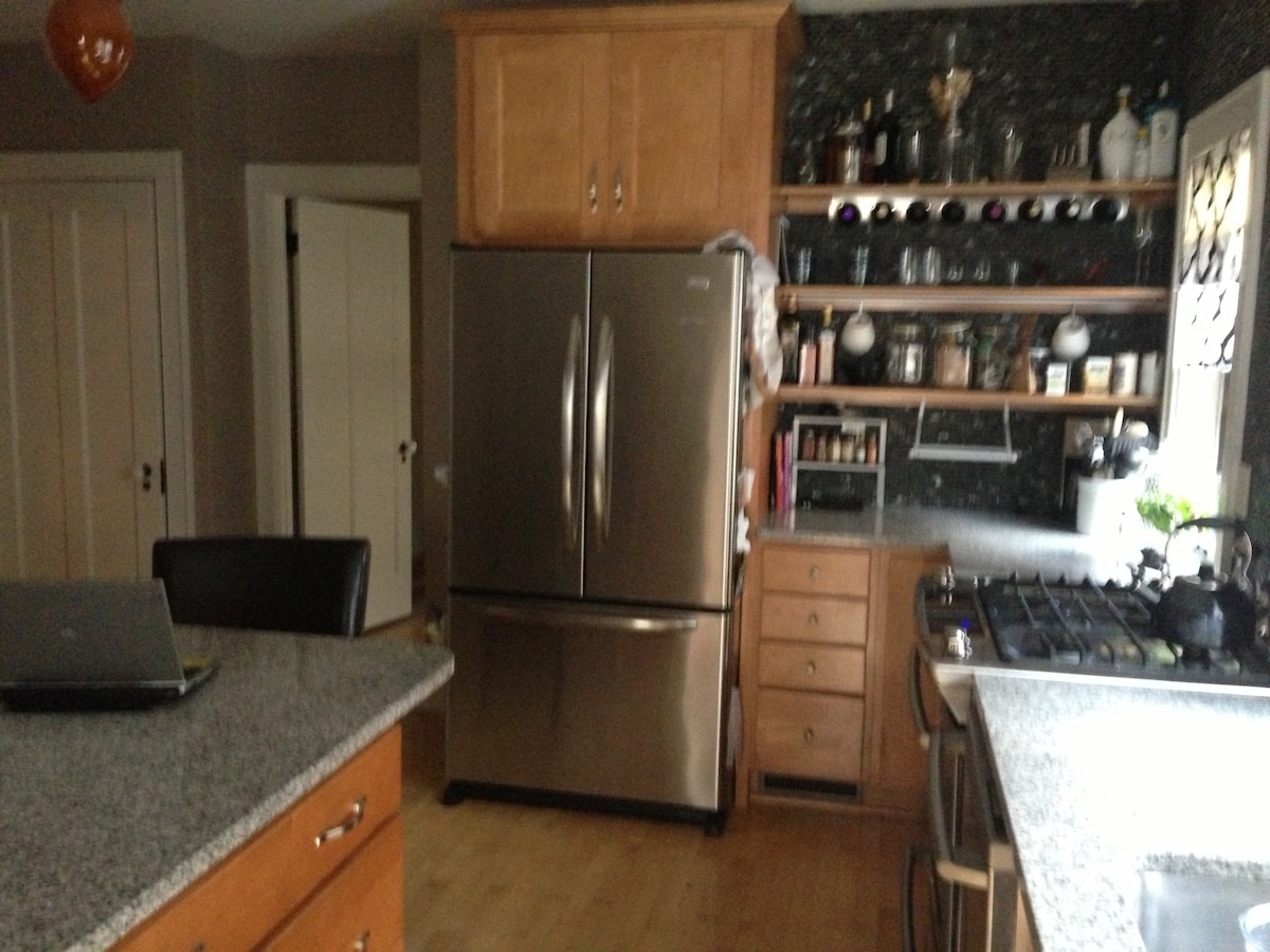 Newly remodeled eat in kitchen.