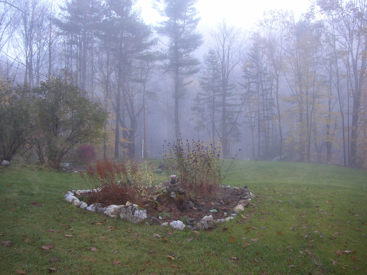 Early morning fog in the autumn
