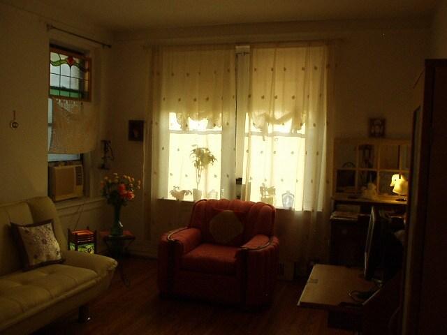 bedroom with drapery