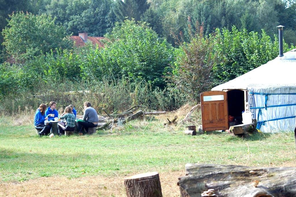 Overnachten in een Mongoolse tent - Afferden, Limburg - Jurta