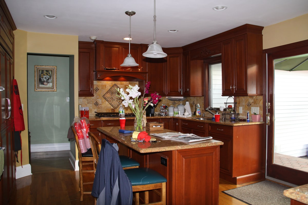 The kitchen - very lived in, very comfortable, very busy - it's the heart of our home!
