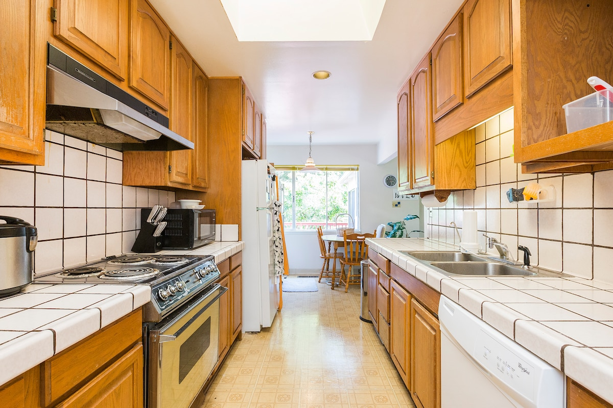 This is our kitchen, which you can use.