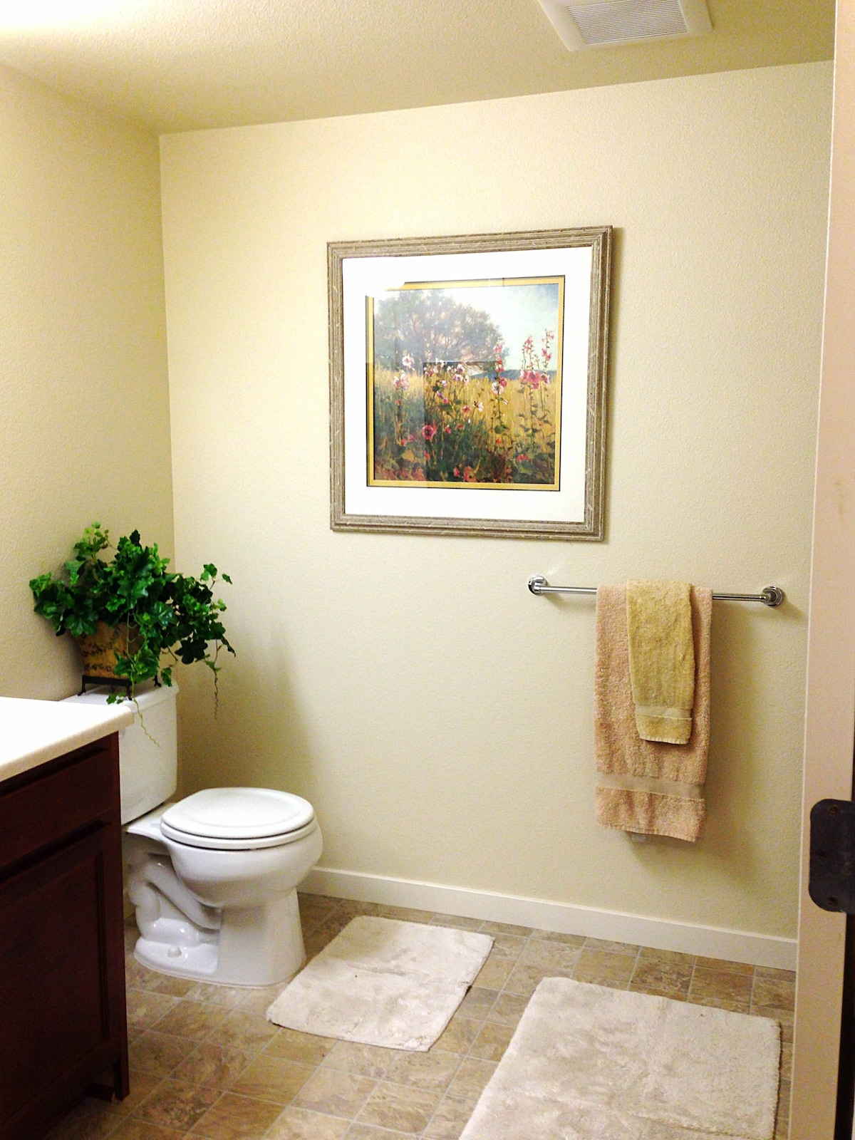 Brand new bathroom. Bright and spacious.