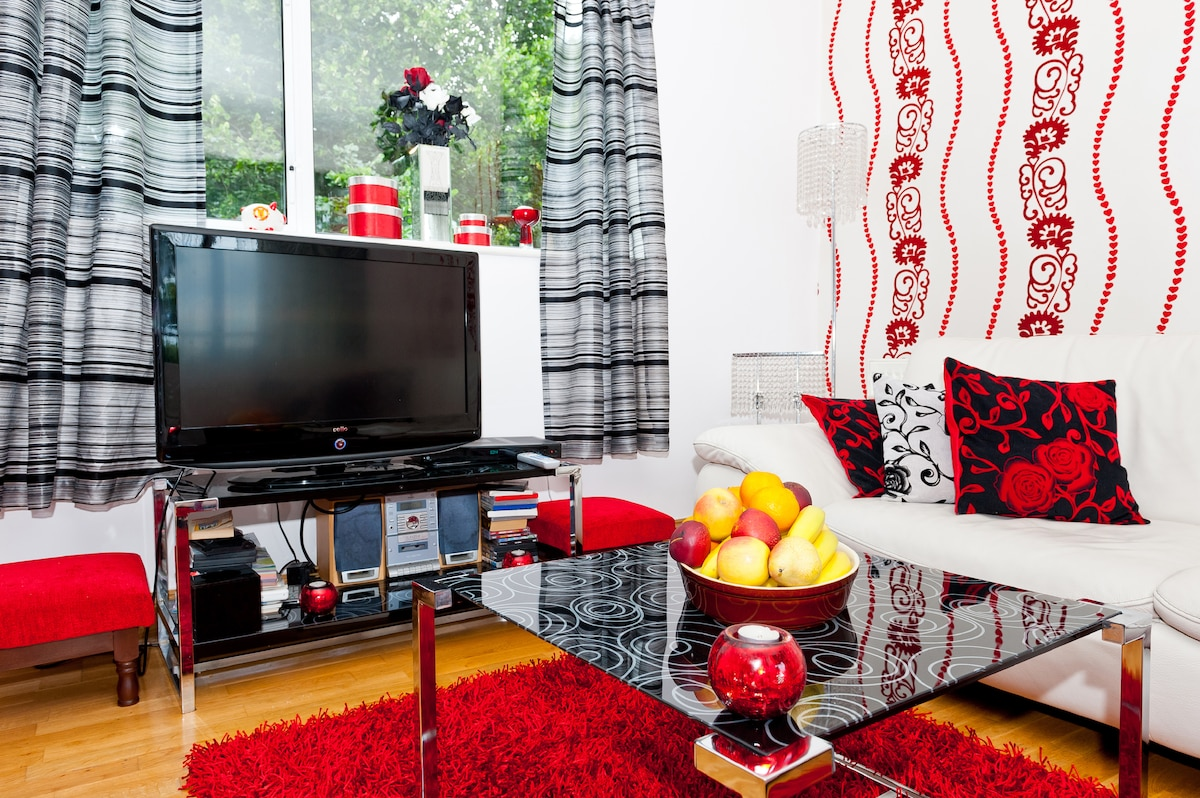 Large screen TV with UPC...