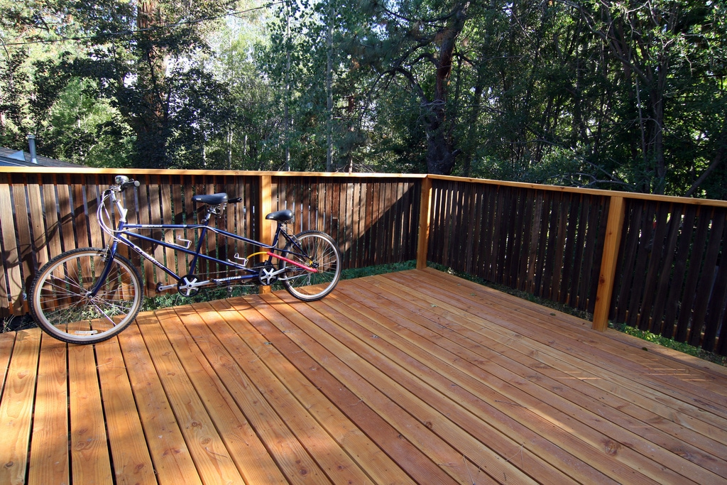 Back Deck off large bedroom, more secluded than the kitchen deck