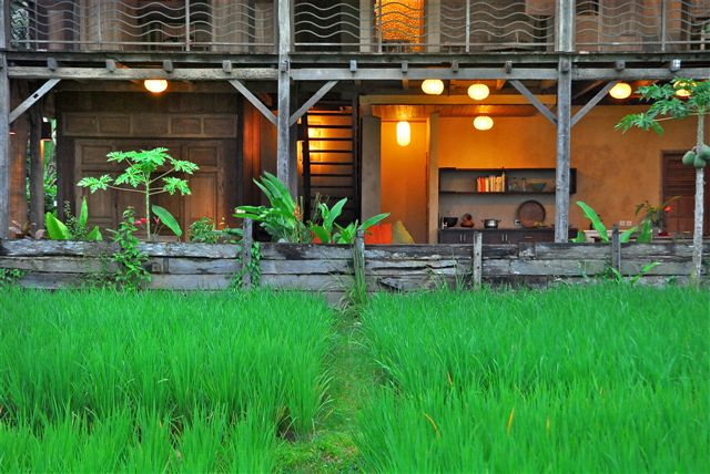 The property is built from 100% reclaimed ironwood