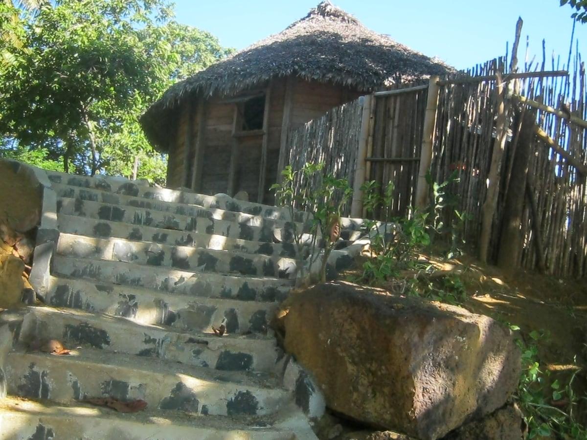 escalier accès plage maison