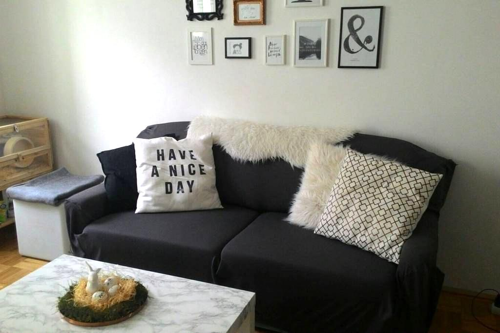 Cozy room in top location with balkony and TV - Vienne - Appartement