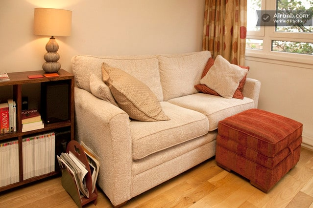 Nice comfy sofa (no food or drinks here please!).