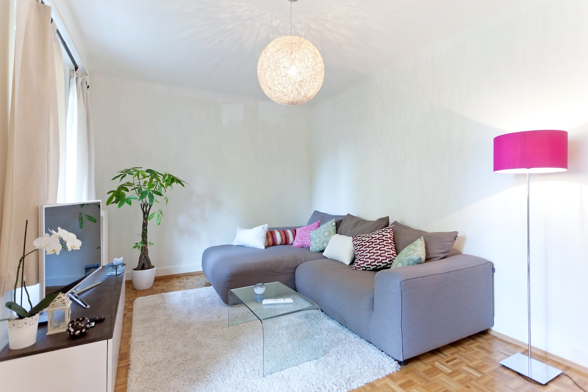 Nice flat with garden in the centre