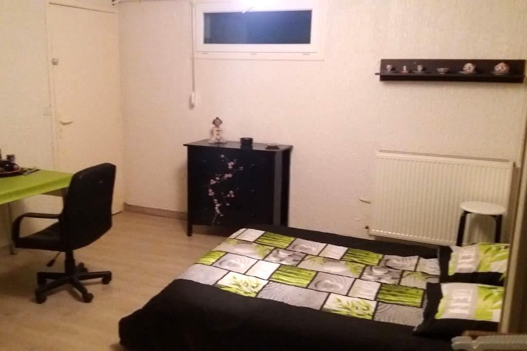Chambre au calme à la campagne dans villa. - Saint-Germain-Lespinasse - Villa