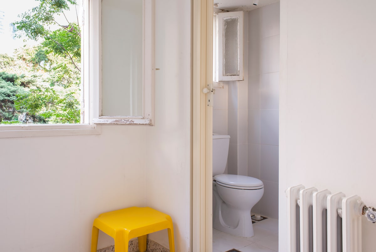 small one person room with toilet.