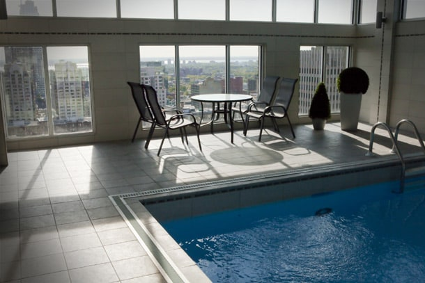 Beautiful Heated Swimming Pool and Sauna Located at the Penthouse