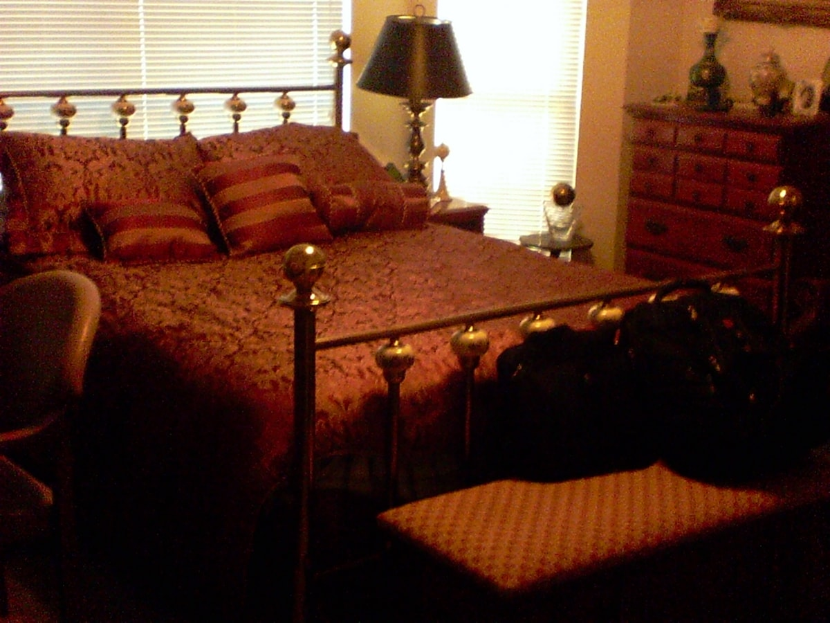 Brass bed in downstairs BR