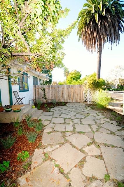 stoop in front yard garden