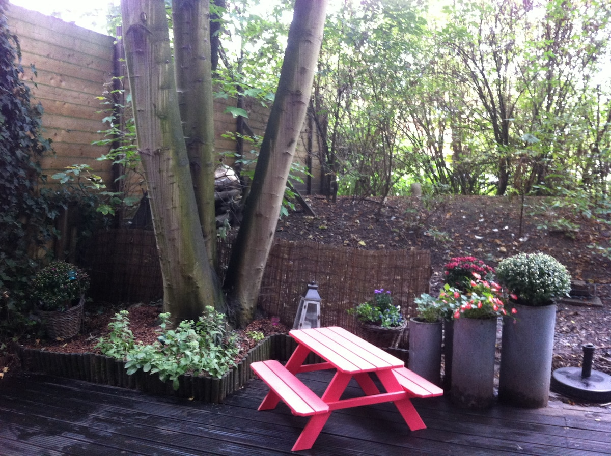 Nice  private and quiet garden!