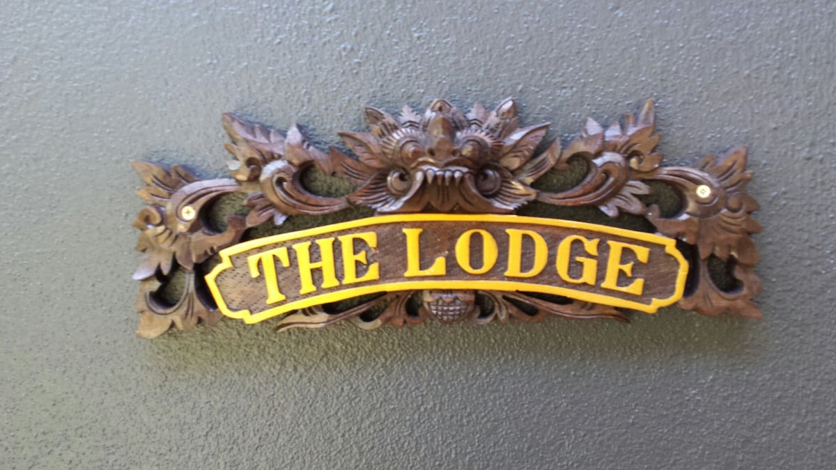 The entrance to the Lodge