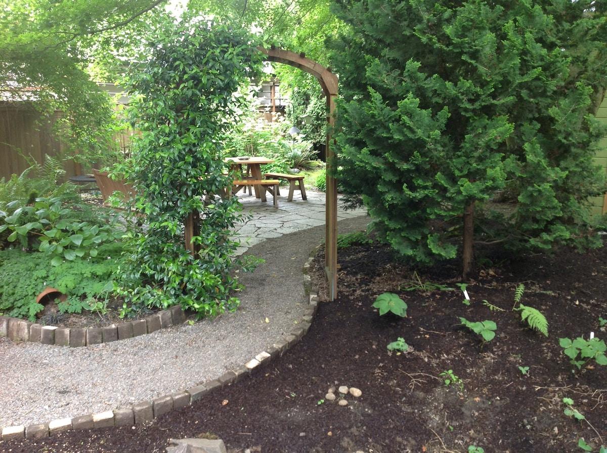 Beautiful shade garden.