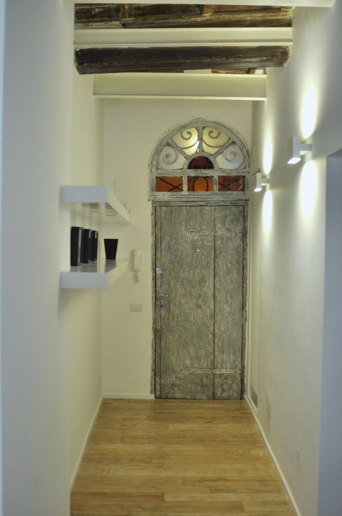the entrance from inside