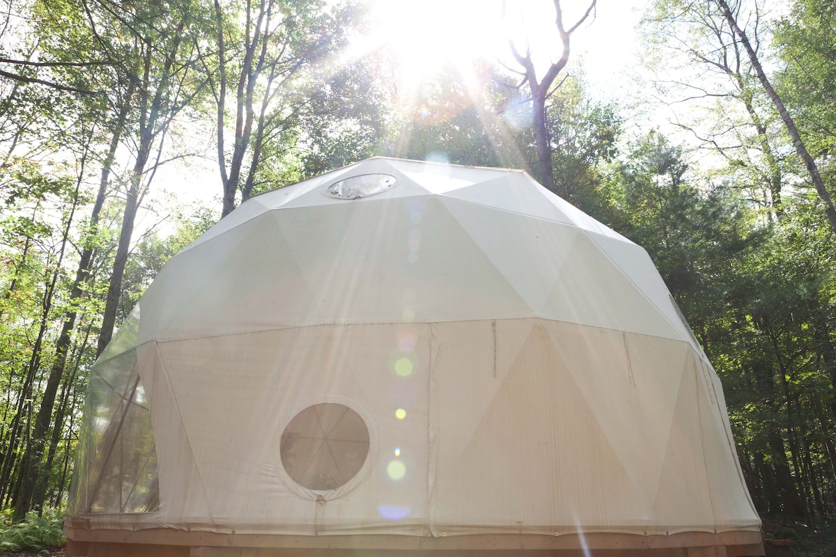 Geo Dome on Farm Upstate Catskills