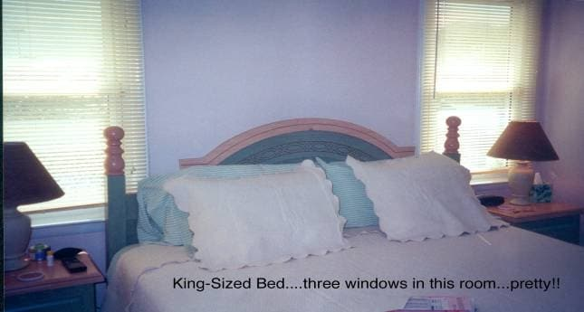 Bedrooms have small TVs in each.