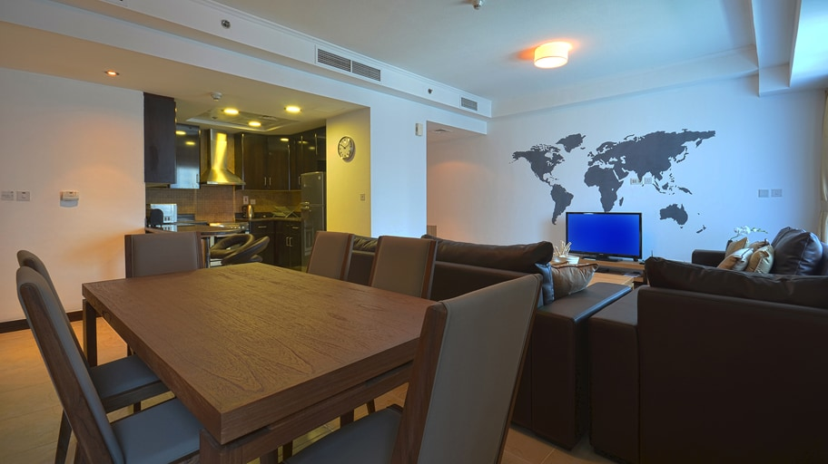 Dining room is equipped with dining sets for 6 persons