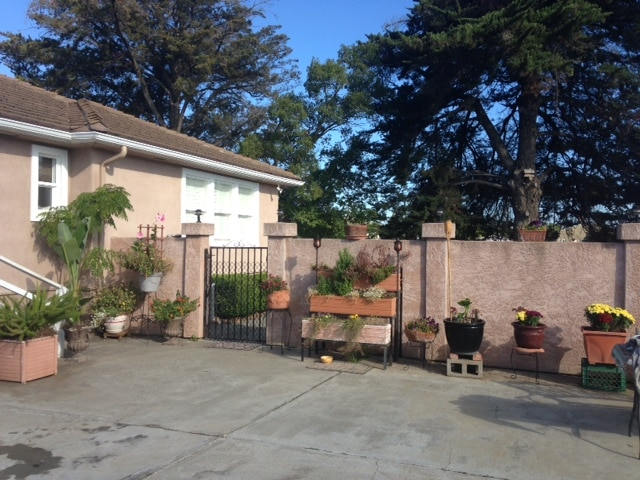 Private fully fenced backyard with main house & guest house