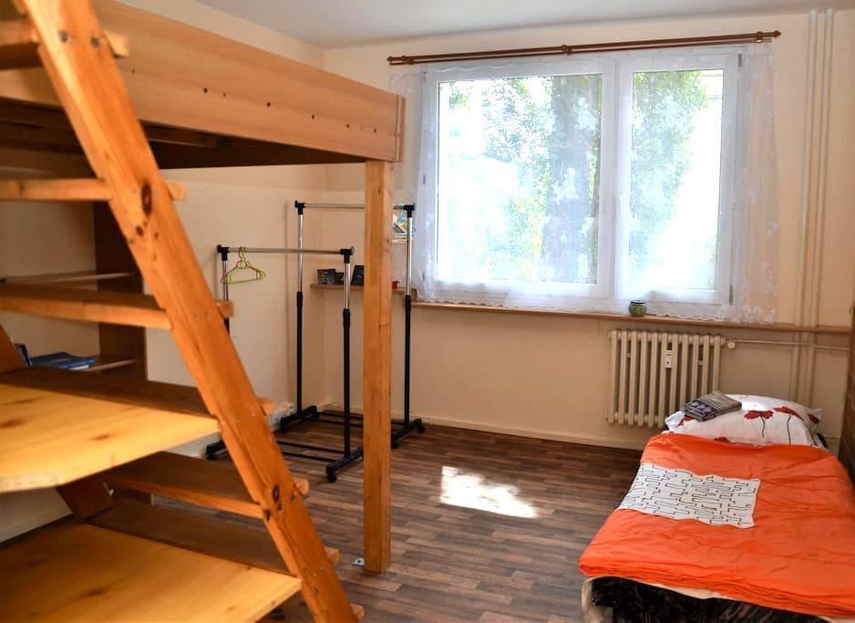 Separate room with two beds,dvoulůžkový pokoj - Pilsen - Huoneisto