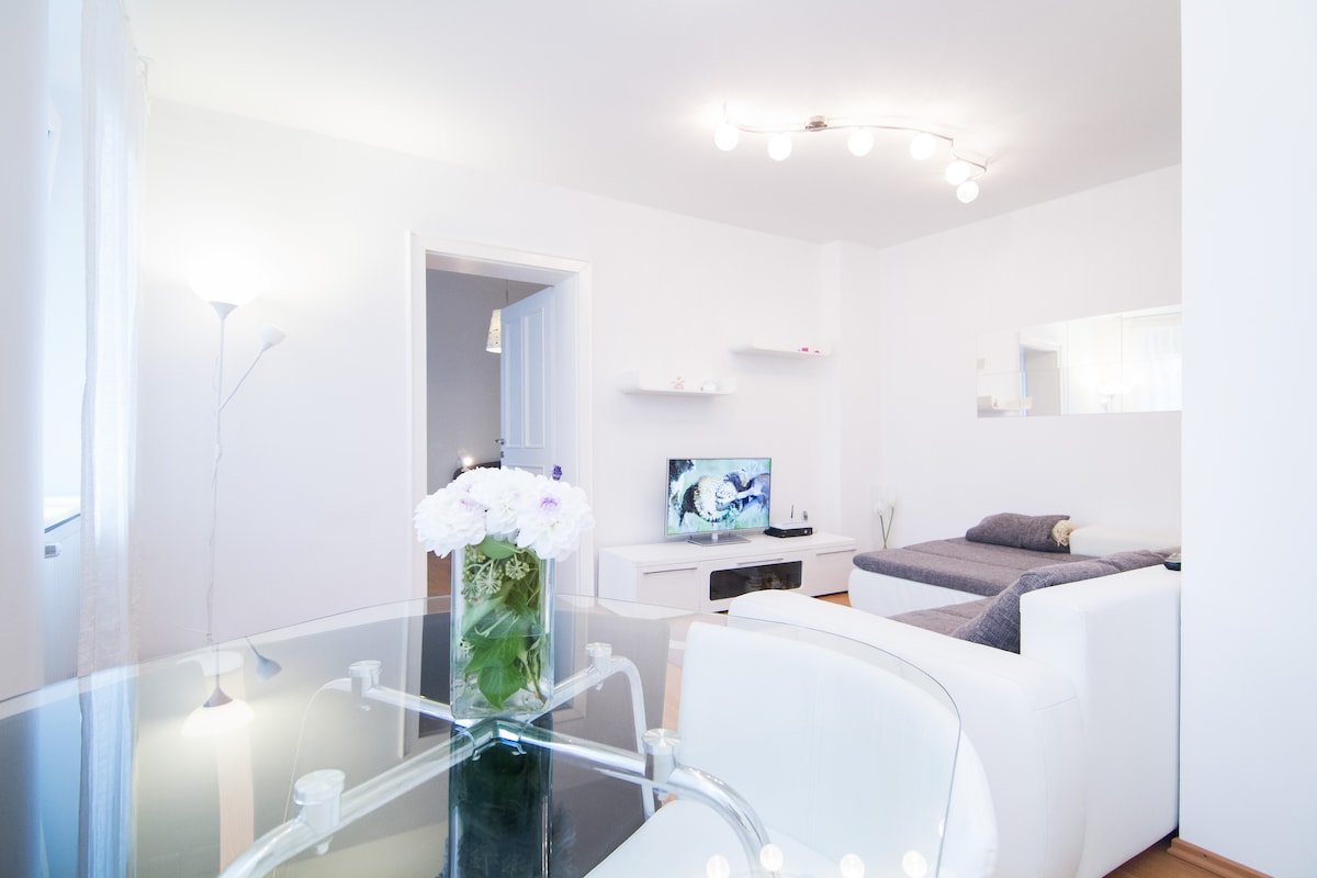 White Apartment in Heart of Zagreb
