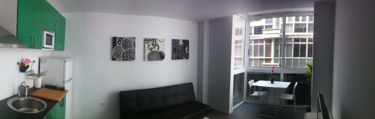 salón/ comedor/ cocina espacioso y luminoso