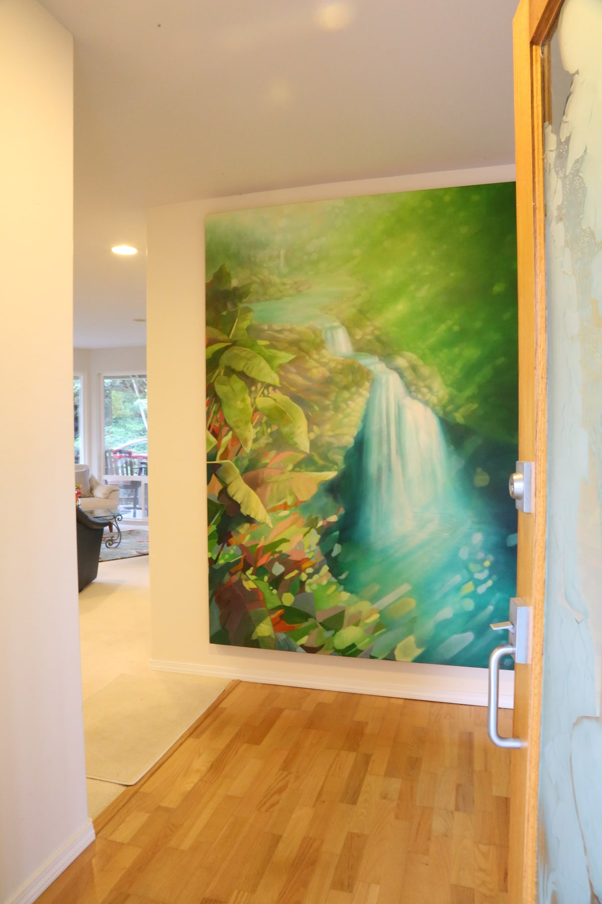 Original oil painting by Kristie Fujiyama Kosmides in the entry.