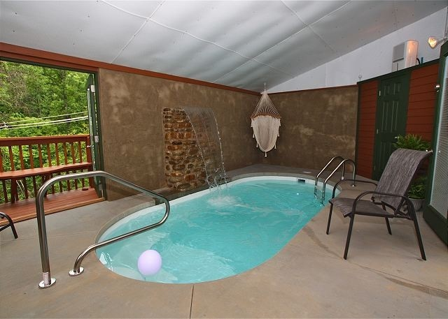 Private Indoor Swimming Pools 1 br cabin w/ pool! private - cabins for rent in gatlinburg