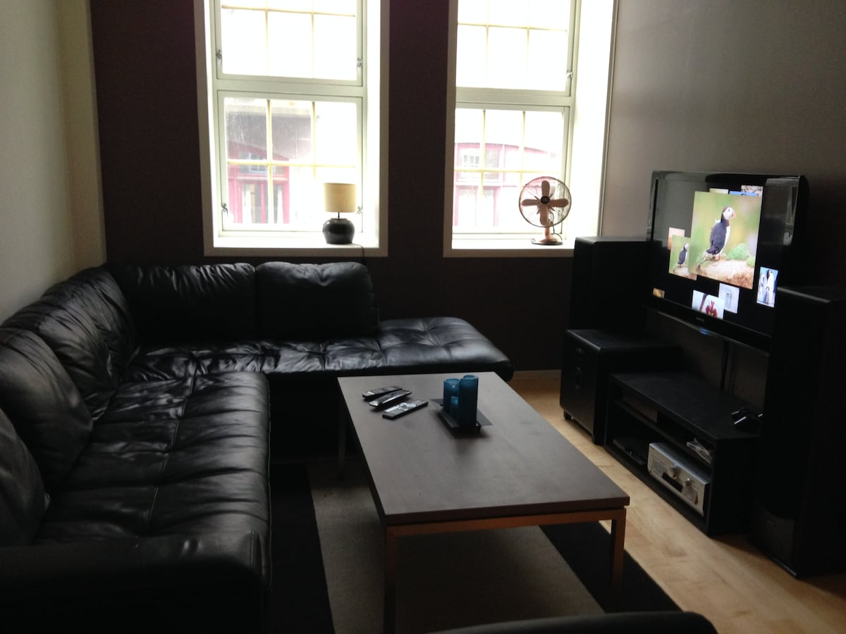 Cosy livingroom with the best couch ever!