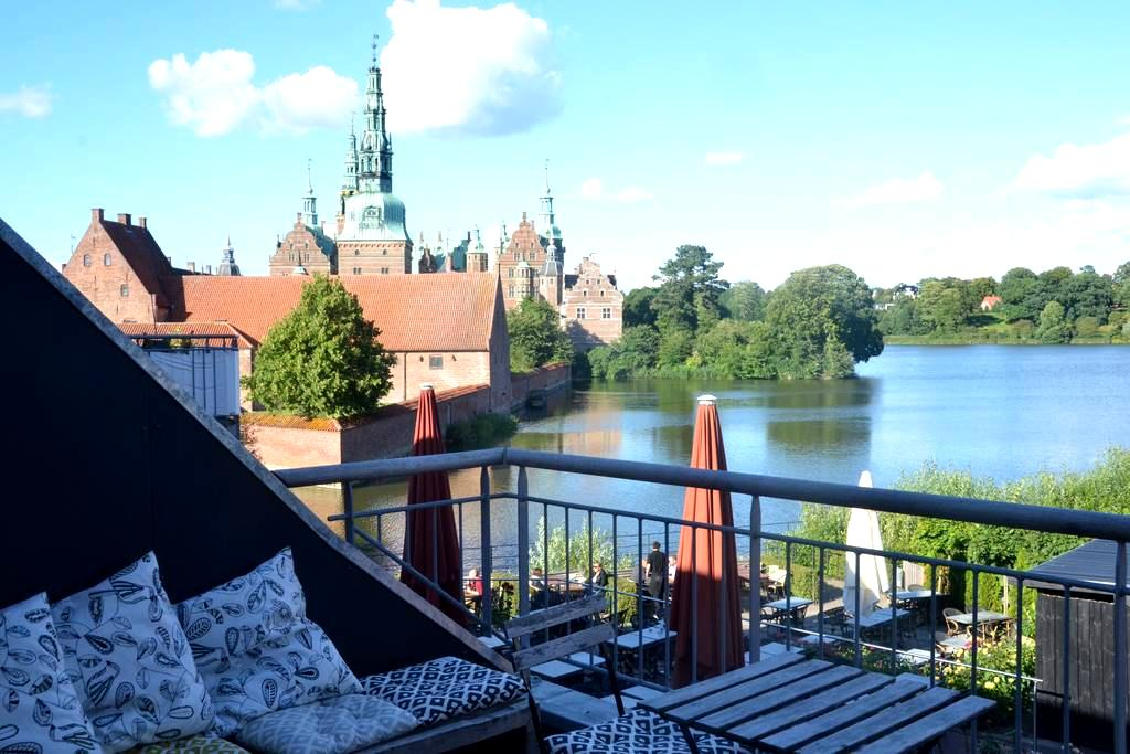 Best location in town with lake view from balcony - Hillerød - Appartement