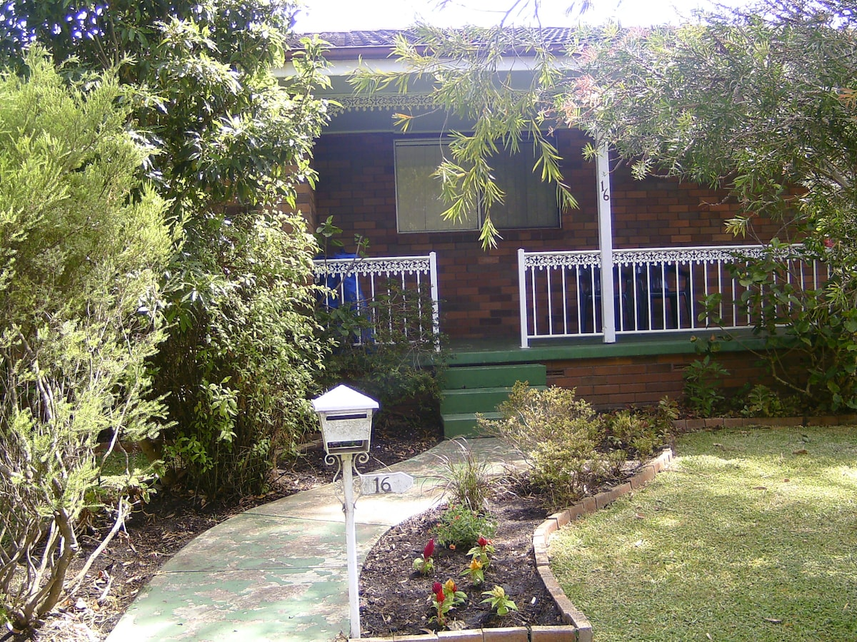 Front footpath, leading to balcony and main entrance