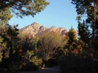 This is the view from the front door..Thunder Mountain and Coffeepot..